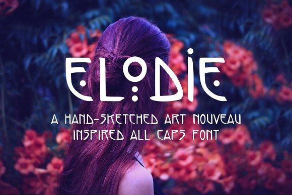 Elodie Hand Made Art Nouveau Font