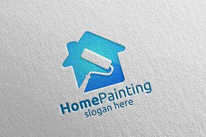 Home Painting Vector Logo Design 15