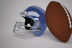 American Football & Helmet