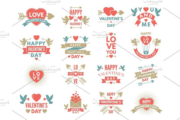 Labels And Symbols Of Loves St Valentine Day Pictures For Scrapbook Design