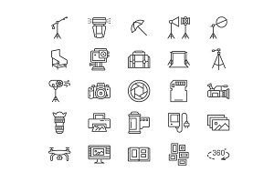 Photography Line Icons
