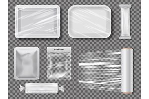 Transparent food packages from polythene