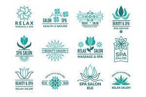 Floral logotypes for beauty and spa salon