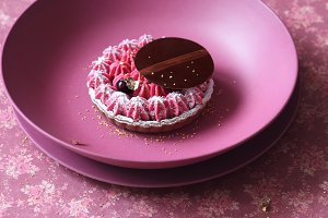 Chocolate Black Currant Mini Tart