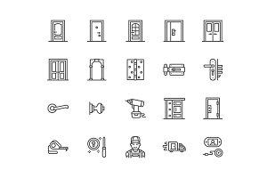 Doors Line Icons