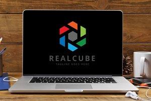 Letter R - Real Cube Logo
