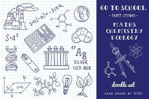 Go to School. Doodle set №2