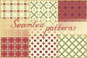 Set of 44 seamless vector patterns