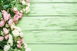Delicate fresh roses.