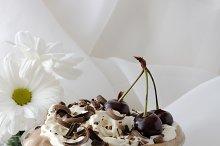 Dessert with a cherry