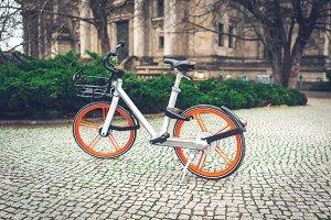 City bike on the street