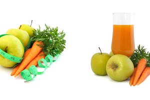 Carrot juice with apples and carrots
