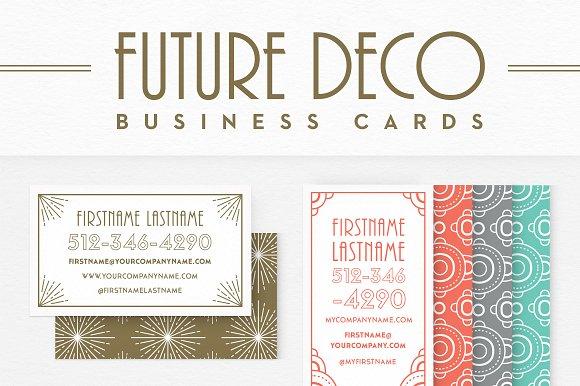 Futuredeco business cards stationery templates creative market colourmoves
