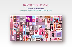 Rock Festival Vector Poster