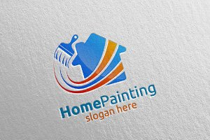 Home Painting Vector Logo Design 18