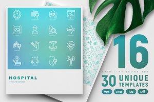 Hospital Icons Set | 30 Templates