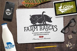 Vintage Farm Badges and Labels