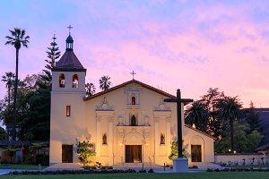 Front facade of Mission Santa Clara