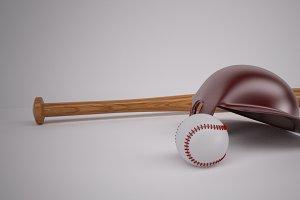 Baseball Bat & Helmet
