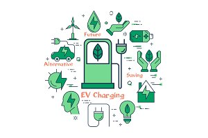 Green EV Charging concept