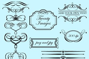 Flourishes & Frames Vectors/Clipart