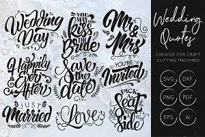 Wedding SVG Cut File Bundle