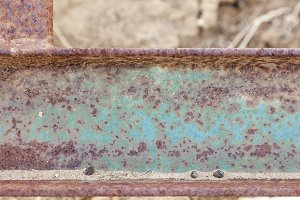 Abstract Aged Vintage Iron Beam Back
