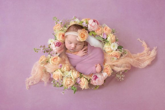 Fresh Flowers Newborn Backdrop