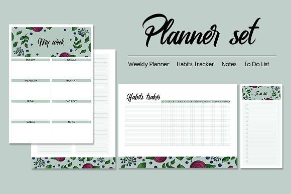 Mint Planner Set
