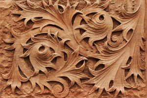 Ornate Wall Stone Carving
