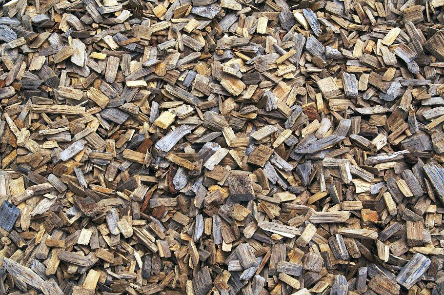 Background of Landscaping Wood Chips - Background Of Landscaping Wood Chips ~ Abstract Photos ~ Creative Market