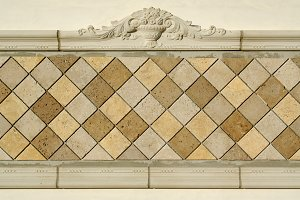 Ornate Tiled Blank Wall Sign
