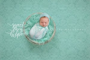 Mint Newborn Digital Backdrop