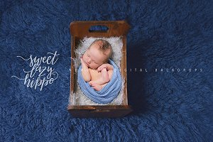 Vintage Bed Newborn Digital Backdrop