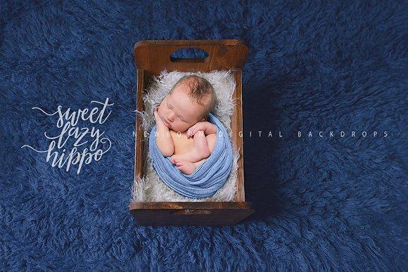 Vintage Bed Newborn Digital Backdrop