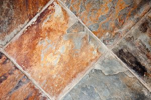 Richly Colored Decorative Stone Floo