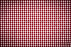 Red and White Gingham Checkered Picn
