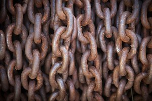 Abstract of Thick Rusty Chain Backgr