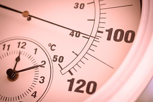 Colorized Round Outdoor Thermometer