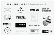 Playful Thank You Vector Graphics