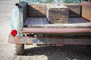 Abstract of Old Rusty Antique Truck