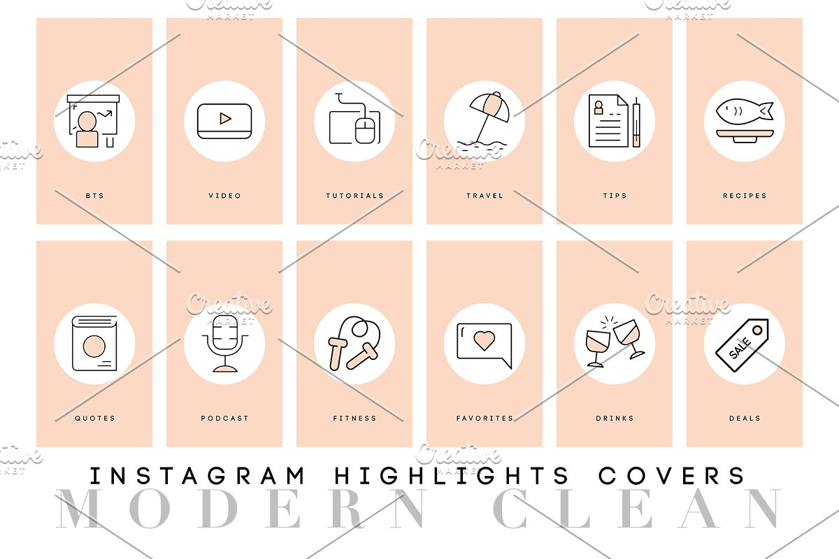 Modern Instagram Highlight Covers in Graphics - product preview 8