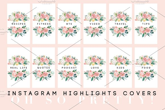 Pretty Instagram Highlight Covers in Graphics