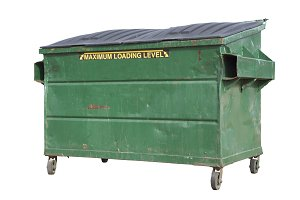 Green Trash or Recycle Dumpster