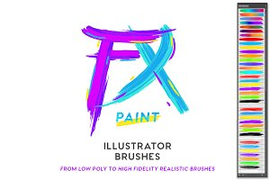 FX PAINT Illustrator Brushes-ON SALE