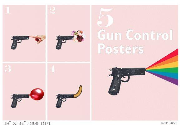 5 Gun Control Posters
