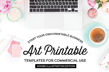 Art Print Templates for Illustrator