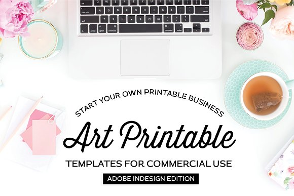 Art Printable Templates For InDesign
