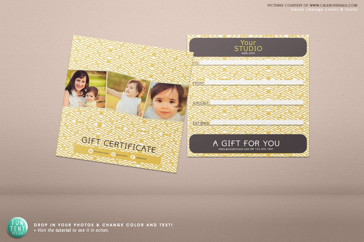 5x5 gift certificate voucher psd stationery templates. Black Bedroom Furniture Sets. Home Design Ideas
