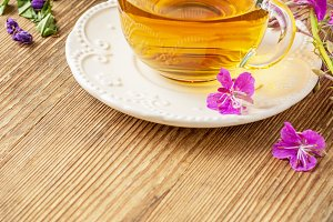blooming Sally, collected and dried brewing herbal tea